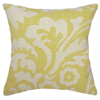 Floral Jacobean Linen Throw Pillow Color: Mustard