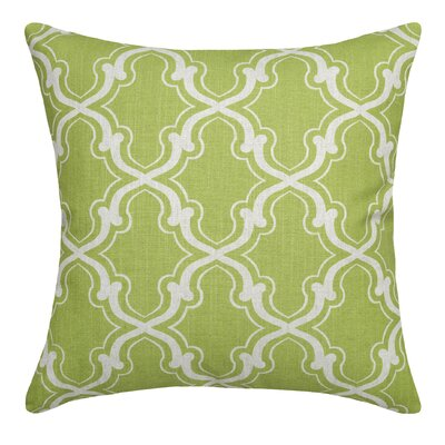 Trellis Linen Throw Pillow Color: Chartreuse Green