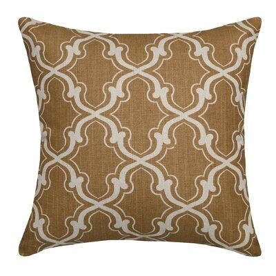 Trellis Linen Throw Pillow Color: Caramel