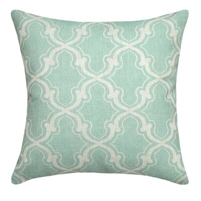Trellis Linen Throw Pillow Color: Aqua