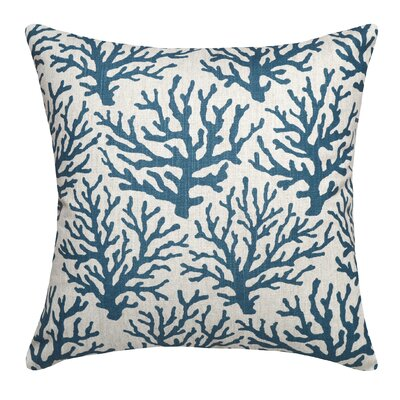Linen Throw Pillow Color: Navy Blue