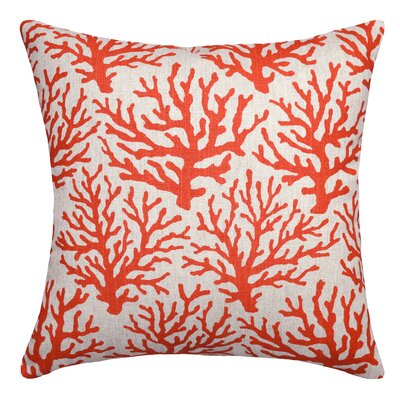 Linen Throw Pillow Color: Coral Red