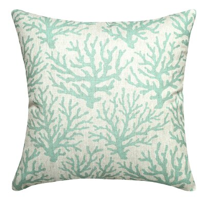 Linen Throw Pillow Color: Aqua