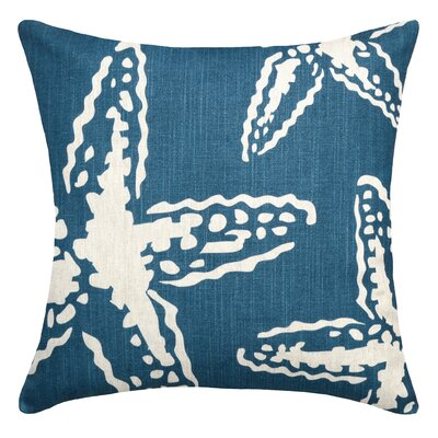Starfish Linen Throw Pillow