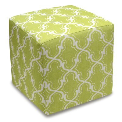 Trellis Cube Ottoman Color: Chartreuse Green