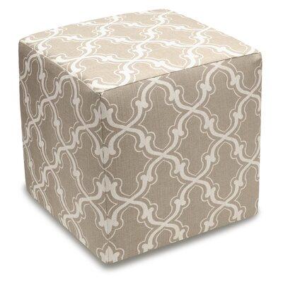 Trellis Cube Ottoman Color: Taupe