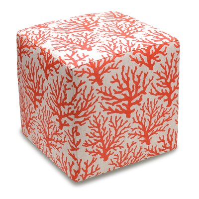Cube Ottoman Color: Coral Red