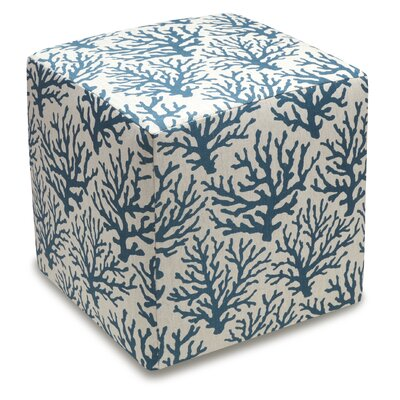 Cube Ottoman Color: Navy Blue