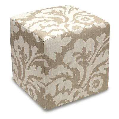 Jacobean Cube Ottoman Color: Taupe