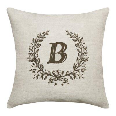 Ashlock Initials Throw Pillow Letters: B