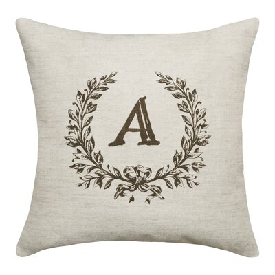 Bauke Initials Throw Pillow Letters: A