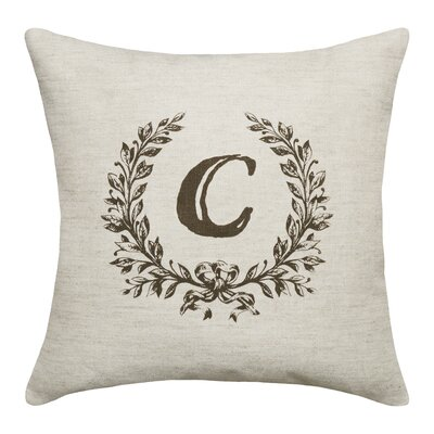 Bauke Initials Throw Pillow Letters: C