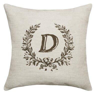 Ashlock Initials Throw Pillow Letters: D