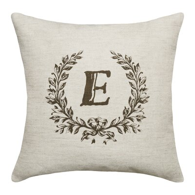 Ashlock Initials Throw Pillow Letters: E