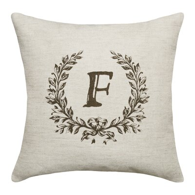 Ashlock Initials Throw Pillow Letters: F