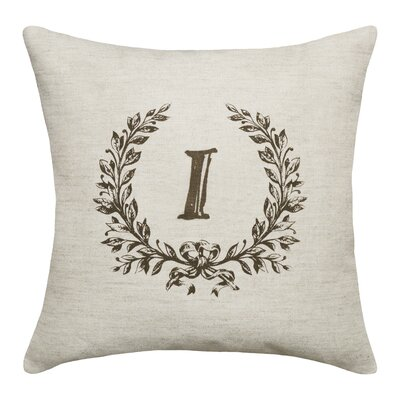 Ashlock Initials Throw Pillow Letters: I