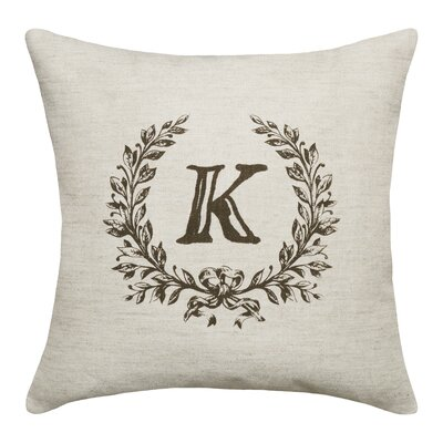 Ashlock Initials Throw Pillow Letters: K
