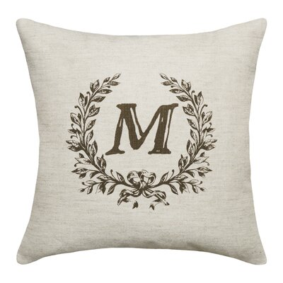 Bauke Initials Throw Pillow Letters: M