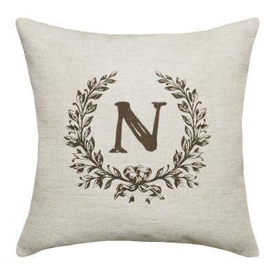 Ashlock Initials Throw Pillow Letters: N
