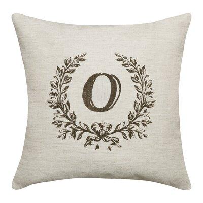 Ashlock Initials Throw Pillow Letters: O