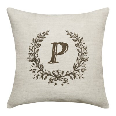 Ashlock Initials Throw Pillow Letters: P