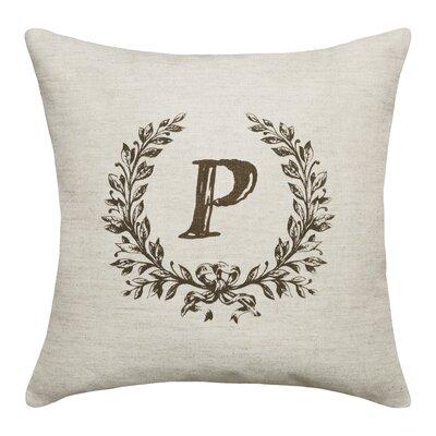 Bauke Initials Throw Pillow Letters: P