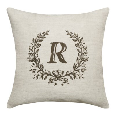 Bauke Initials Throw Pillow Letters: R