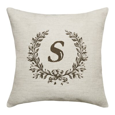 Ashlock Initials Throw Pillow Letters: S
