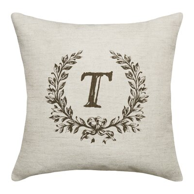Ashlock Initials Throw Pillow Letters: T