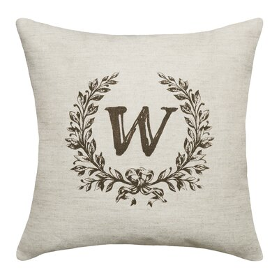 Ashlock Initials Throw Pillow Letters: W