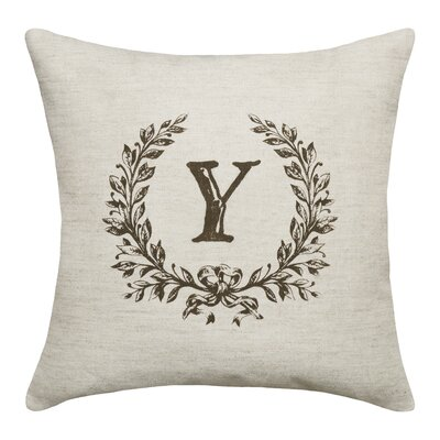 Ashlock Initials Throw Pillow Letters: Y