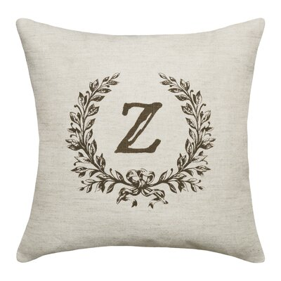 Bauke Initials Throw Pillow Letters: Z