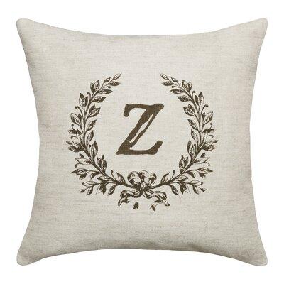 Ashlock Initials Throw Pillow Letters: Z