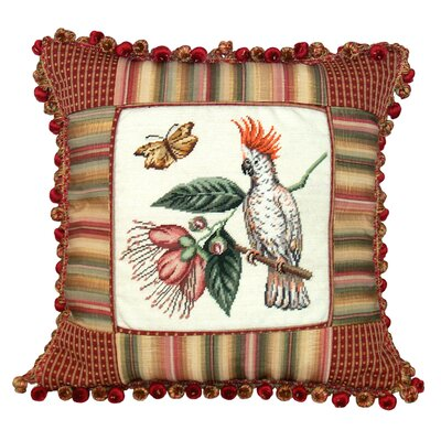 Nature Petit Point Wool Throw Pillow