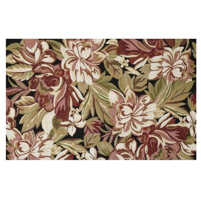 Floral Hook Brown Magnolia Area Rug Rug Size: 3 x 5