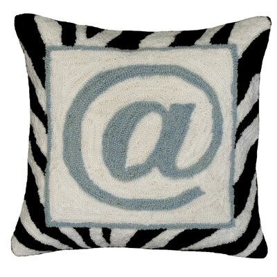 Graphic @ Sign Hook Wool Throw Pillow