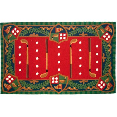 Whimsical Golf Hook Area Rug Rug Size: 3 x 5