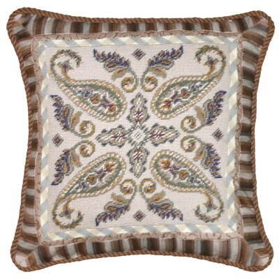Floral Paisley Needlepoint Wool Throw Pillow
