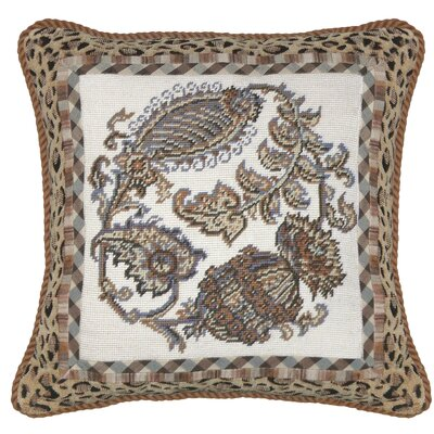 Floral Paisley Needlepoint Throw Pillow