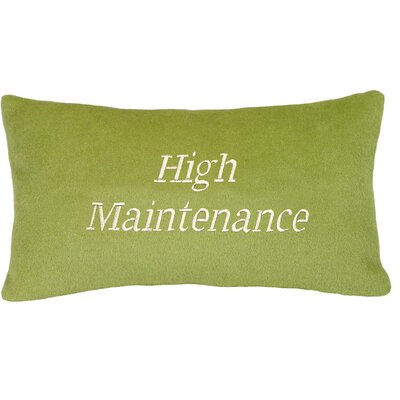 High Maintenance Wool Lumbar Pillow