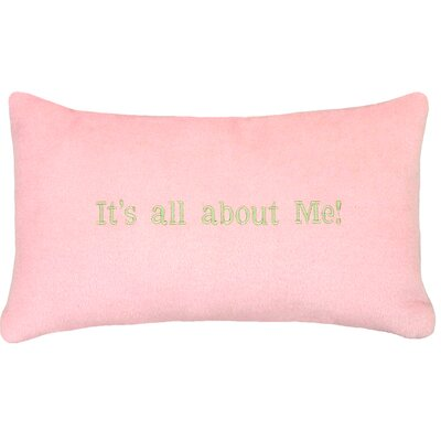 Its All about Me�Wool Lumbar Throw Pillow