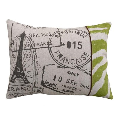 Stamps Linen Lumbar Pillow