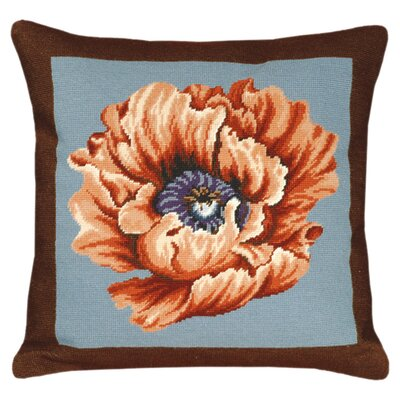 Poppy Wool Throw Pillow Color: Blue/Brown