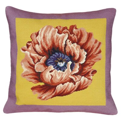 Poppy Wool Throw Pillow Color: Yellow/Lilac