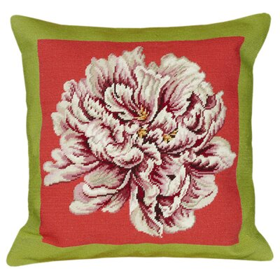Peony II Wool Throw Pillow