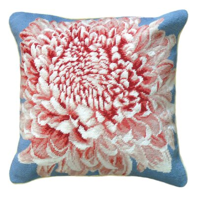 Chrysanthemum Wool Throw Pillow