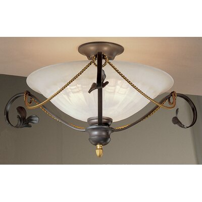Verona 3-Light Semi Flush Mount Finish: Bronze