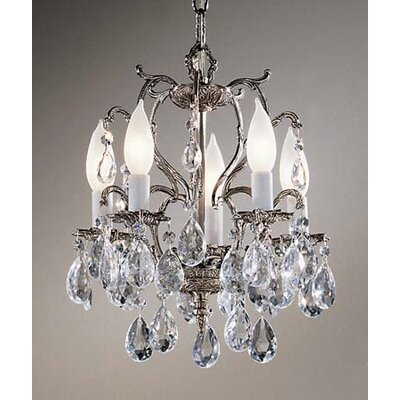 Barcelona 5-Light Crystal Chandelier Finish: Millennium Silver, Crystal: Italian
