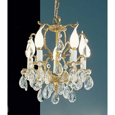 Barcelona 5-Light Crystal Chandelier Crystal: Italian, Finish: Old World Bronze