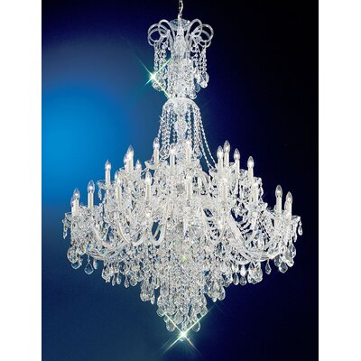 Bohemia 40-Light Crystal Chandelier Crystal: Swarovski Spectra